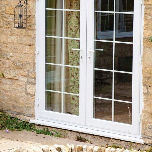 Upvc french door pvc glass door pvc exterior door china exporter for French doors exterior upvc made to measure
